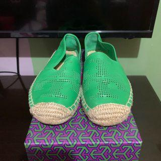 Authentic Tory Burch Green Espadrille