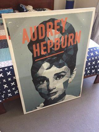 Audrey Hepburn (on canvas)