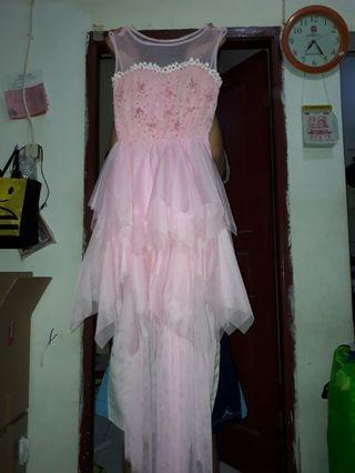 Dress Gaun Pesta Pink