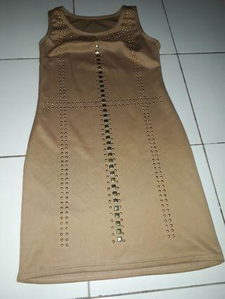 Mini Dress Coklat Minimalis