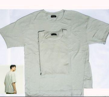 Zara man oversized asymmetric shirt