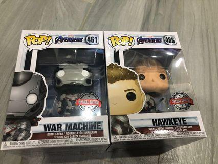 Funko Pop Avengers War Machine / Hawkeye