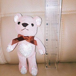 「全新」歐洲粉紅泰迪小熊吊飾