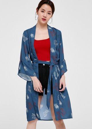 XS | Cherelle Printed Longline Kimono