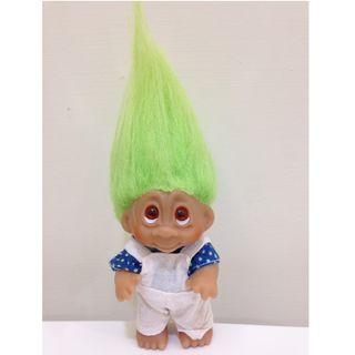 幸運小子(翻白眼吊帶褲弟)醜娃、巨魔娃娃、醜妞、Troll Doll、魔髮精靈、魔法精靈、禮物、玩具總動員
