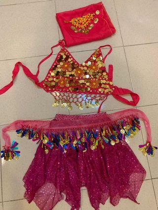 Belly dancing costume for girl