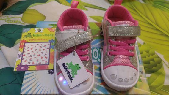 Sparking glitter girl toddler shoes - brand new uskids 8 size