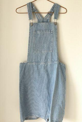 Cotton On Denim Pinafore Sz L