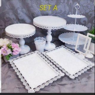 Dessert Table set, dessert stand, cake stand, cupcake stand for rent