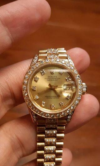 已售出勞力士 69178 ROLEX 女錶 18K黃金