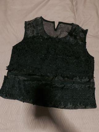 Lace Black Crop Top