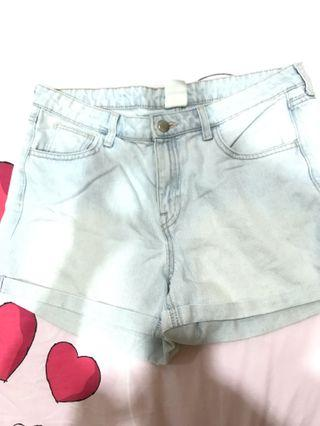 H&M Women's Denim Shorts Light Blue
