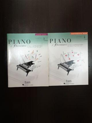 Piano Adventures lesson and performance book
