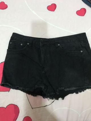 Kitschen Black Denim shorts women's