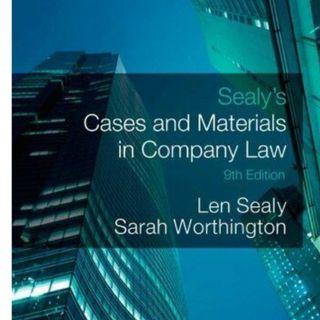 Sealy's Cases and Materials in Company Law by Worthington, Sarah Paperback Book