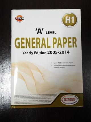 🚚 A Level General Paper TYS 2005-2014