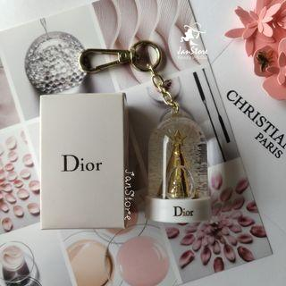 Authentic Dior Beauty Platinum Gift SnowGlobe Key Chain #CarouRaya