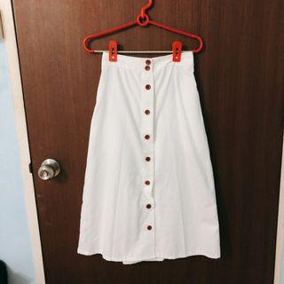 🚚 White Button Up Skirt