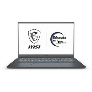 "MSI PS63 Modern-091 15.6"" Ultra Portable Creative Laptop, Intel Core i7-8565U, GTX 1050Ti, 16GB, 1TB SSD, Win10P, White Backlit KB, Silky Glass Touchpad + Fingerprint Reader, Grey w/ Blue Diamond Cut"