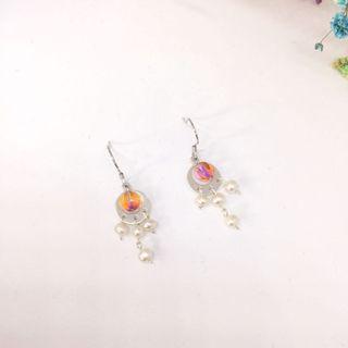 日系款式淡水珍珠純銀耳環