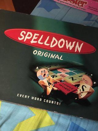 桌上遊戲 兒童 拼字遊戲 益智 Spelldown 親子遊戲 borad game 團體遊戲