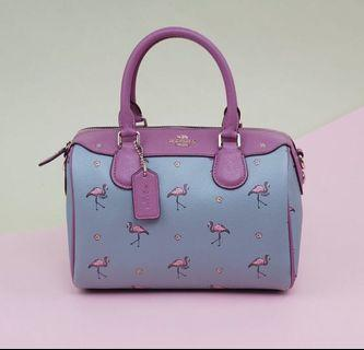 coach bag flamingo