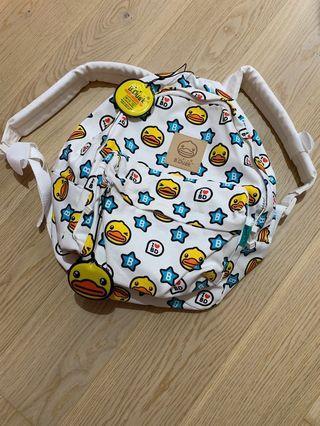 B. Duck Star Pattern Large Shoulder Backpack (可愛黃色小鴨背包)
