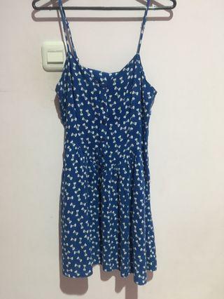‼️BISA NEGO‼️ BLUE DRESS H&M // DRESS BIRU H&M