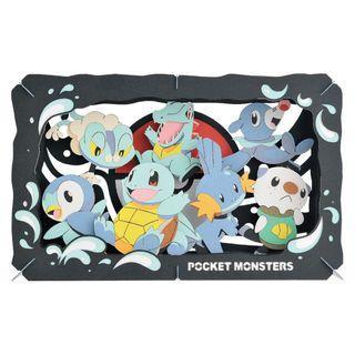 【預購】PAPER THEATER 紙劇場 Pokemon 精靈寶可夢 水系 日本直送 8月到貨 名額滿截單
