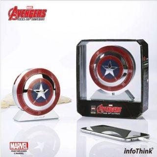 【現貨】Marvel Avengers Age Of Ultron Power Bank 復仇者聯盟 美國隊長盾牌 藍芽喇叭 連 流動充電器