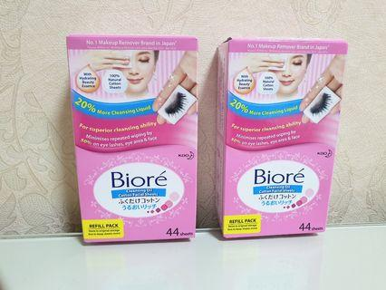 Biore Cleansing Oil Cotton Facial Sheets (Refill Pack)