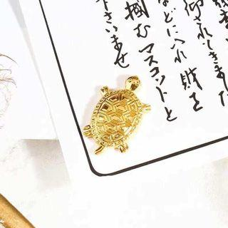 Japan lucky gold turtle