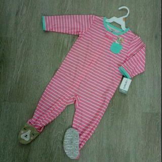 NEW 12M Carter's Girl Long Sleeve Sleepwear / Playsuit