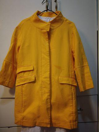 Zara yellow Coat size s