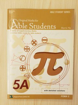 original maths for able students 5a dse 數學 mathematics maths 練習 exercise