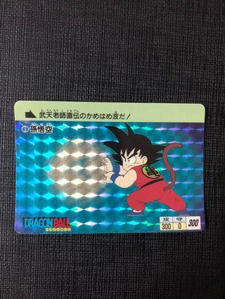 龍珠閃卡 本彈 1彈 1號 復刻 1995 (no.1 悟空 閃咭 激鬥 風雲 PP HERO)