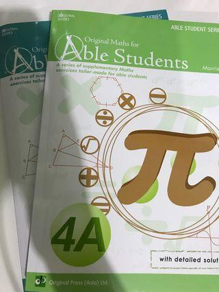Orginal Maths for Able Students 4A&4B (中四數學練習)