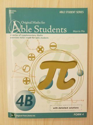 original maths for able students 4b dse 數學 mathematics maths 練習 exercise