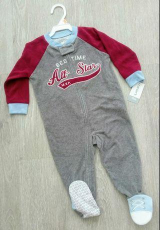 🚚 NEW 12M Authentic Carter's Boy Long Sleeve Sleepwear / Playsuit