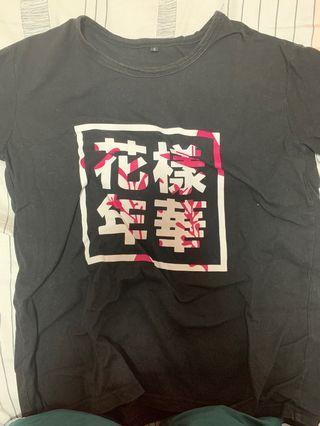 🚚 bts hyyh black shirt