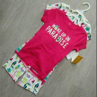 NEW 5T Carter's Girl's 4 Pcs Set Top / Shorts Playsuit