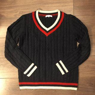 Niko and cable knit sweater 校園風冷衫