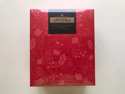 Twinings Deluxe Wooden 4-Compartment Box with Tea Bags   川寧四格木盒連茶包