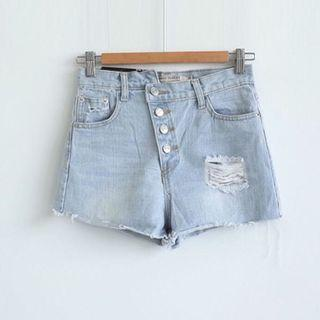 🚚 【全新】SWEESA|不規破壞牛仔短褲|M號