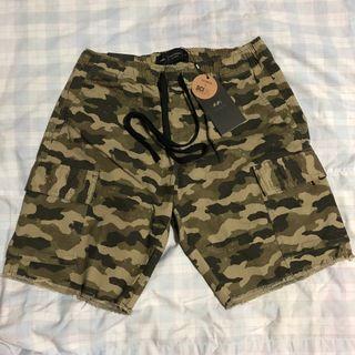BN Cotton On Green Camo Cargo Shorts