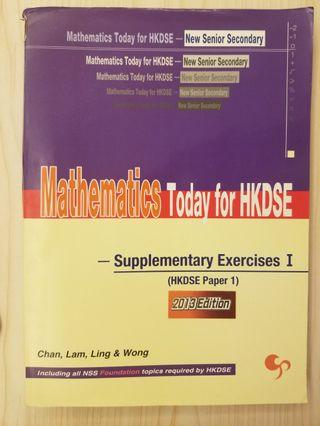 mathematics today for hkdse supplementary exercise i dse 數學 mathematics maths 練習 exercise
