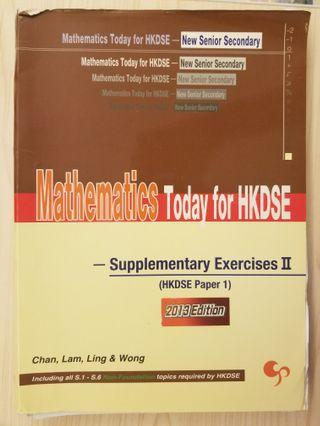 mathematics today for hkdse supplementary exercise ii dse 數學 mathematics maths 練習 exercise