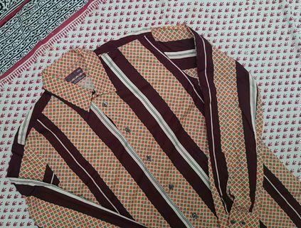 Kemeja Zara Vintage Retro 70's