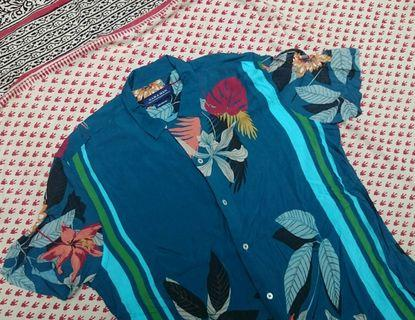 Kemeja Pantai Zara Retro Vintage Hawai