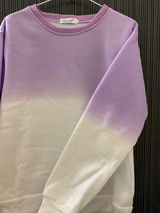 紫色漸層大學T